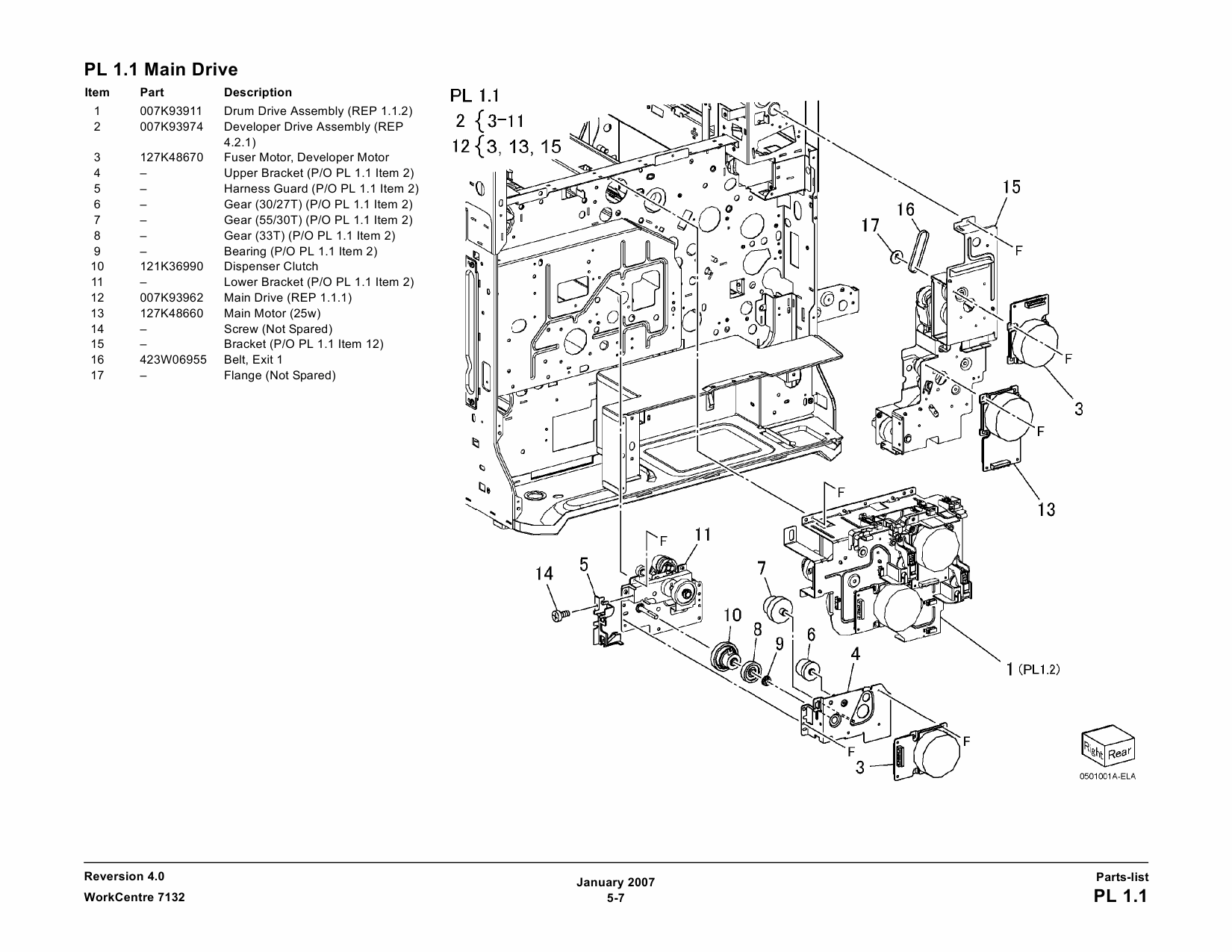 Xerox WorkCentre 7132 Parts List and Service Manual